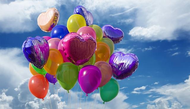 barevné balonky