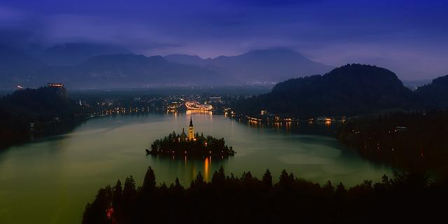 jezero ve Slovinsku